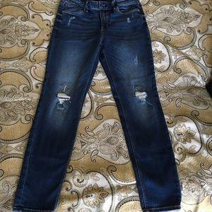 WHBM High waist skinny destructive jeans
